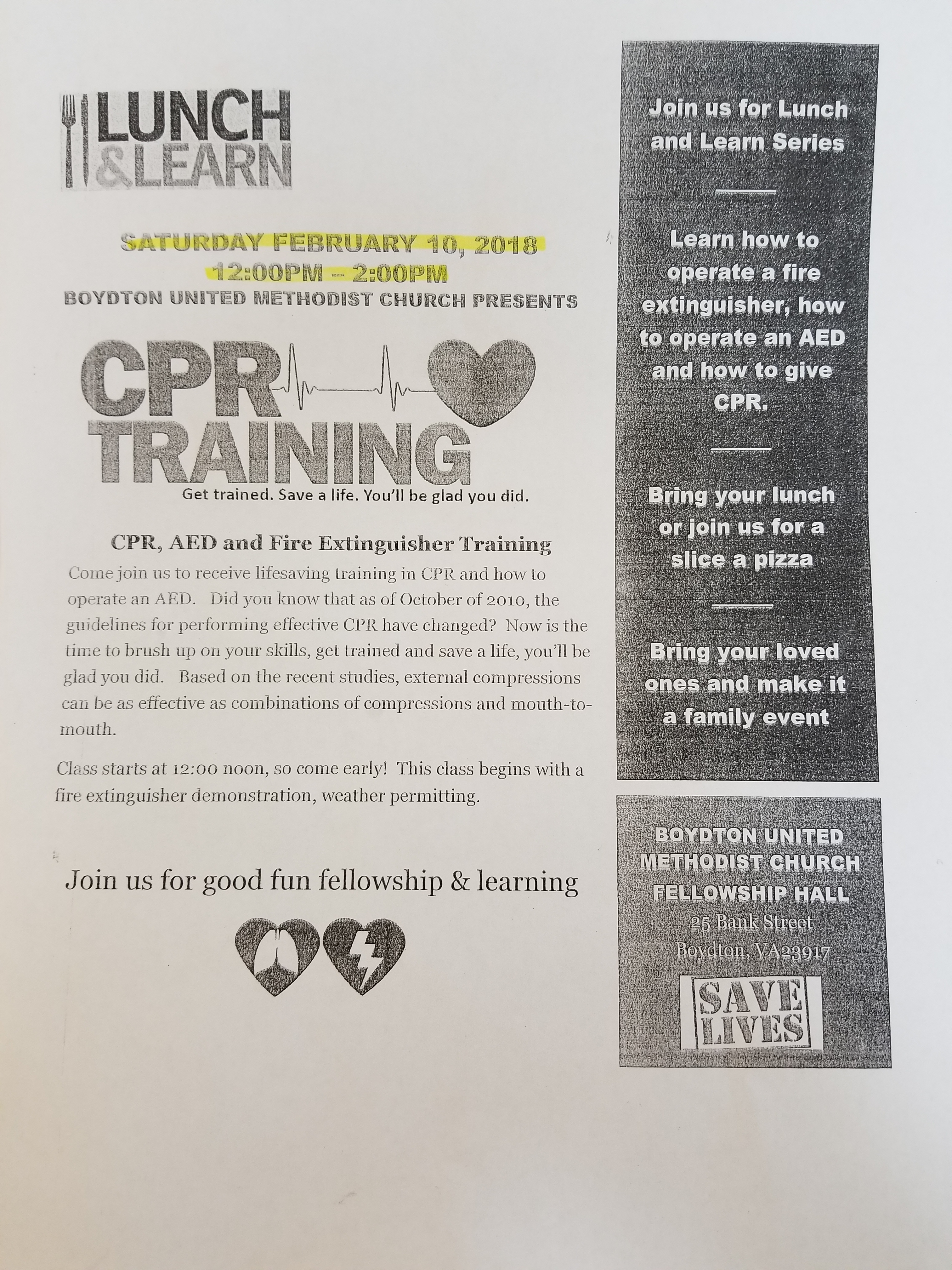 Lunch learn cpr training town of boydton virginia xflitez Images